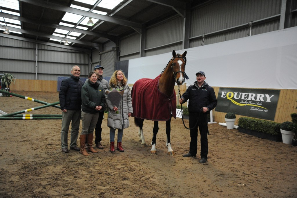 Jean Fourcart and Bernard Demets from Fences, Louise from Equerry Feeds, and Sue Jaggar from Millfield Stud